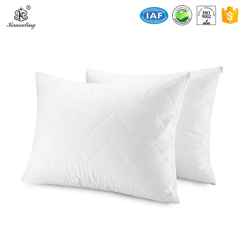 Hot New Products  New Printed Cotton Comforter Bed Sheet Set Bedding Sets Waterproof Pillow Protectors Bed bug Control 100% Cotton Top Quilted Pillow cover Encasement Featured Image