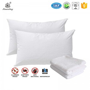 100% Cotton Terry Bed Bug, Dust Mite & Allergy Control Pillow Protector