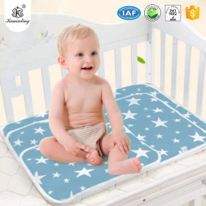 Printing Cotton Diaper Changing Pad Waterproof  Indeformable Baby Products