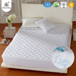 Waterproof mattress protector with polyester filling waterproof mattress pad factory
