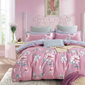 China supplier hot sale floral printed 4 pieces queen size duvet cover set with competitive price