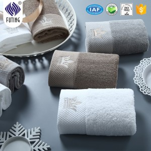 cotton 500gsm 32S/2 embroidery  bath towel for 4 star hotels