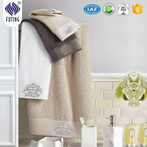 Cotton 16S body towel white wholesale china towel manufacturer
