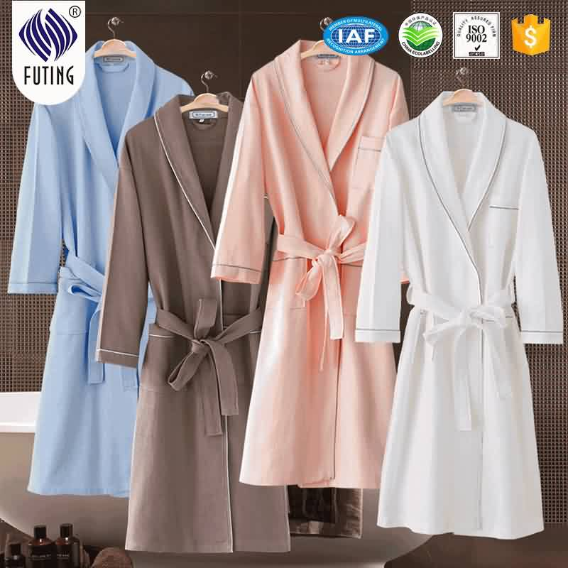 China Supplier Baby Sheets 100% Cotton - Summer Cotton Waffle Bathrobe Plus Size Dressing Gown for hotel – Meishi