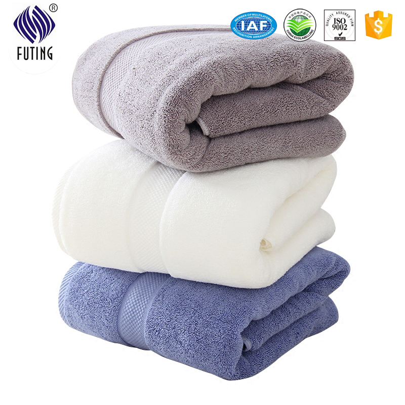 Super Purchasing for Comfortable Baby Bed Linen - Solid color dobby  bath towel set 16S blue  towel set for home – Meishi