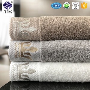 100% cotton 600gsm 16S white bath towel for hotels