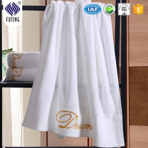 Factory selling Better Sleep Mattress - 4-5 Star hotel embroidery towel cotton dobby bath towel with logo – Meishi
