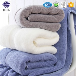 Fancy  embroider logo bath towel set with cheaper price  for promotion