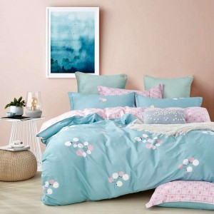 Ultra Soft Cotton King Floral Printed Duvet Cover Set with Zipper Closure
