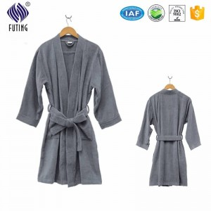 Hotel Quality Cotton Luxury Terry Bathrobe For Motel
