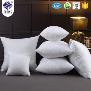 Best sell hotel&home white jacquard soft  Bed Cushion pillow