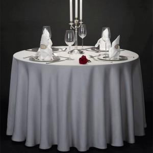 wholesale 100% polyester fancy table cover for restaurantwedding