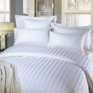Hotel Collection Dobby Striped Duvet Cover Set Luxury Soft 100% cotton 3cm jacquard design bedding set