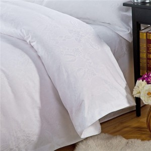 Jacquard Style and Hotel Use bedding set sateen 100% cotton fabric bed linens