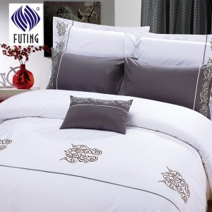 Factory Outlets Factory hot sale 4 piece hotel bed linen 300tc home sheets cotton bedsheets with wholesale price