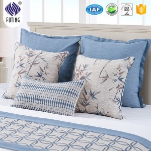 High quality 100% polyester bedding set decorative king size bed runner