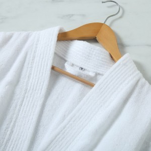 100% cotton bathrobe terry cloth fabric robes with embroidery logo