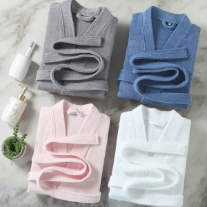 Cotton terry towel spa night robe factory price bathrobe for star hotel