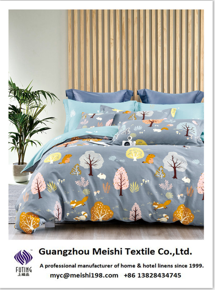 NEW patterns for the 100% cotton printed bedding sets from MEISHI textitle