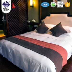 Factory making Angel hotel bed sheet 3d/bedding fabric/hotel bed runner