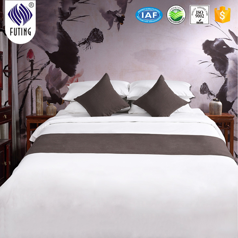Factory making Angel hotel bed sheet 3d/bedding fabric/hotel bed runner Featured Image