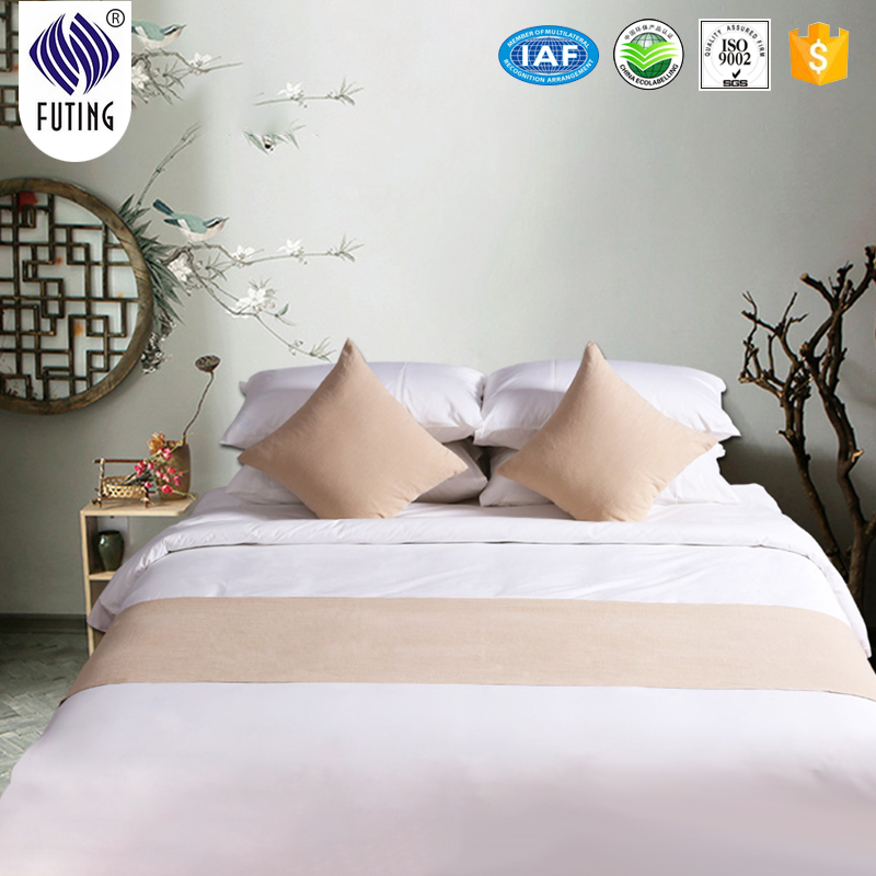Super Purchasing for Luxury Goose Down Pillow - Hotel bed linen queen size decorative bed runner polyester bed runners – Meishi Featured Image