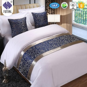 Wholesale decoration hotel bed runner table runner in Guangzhou