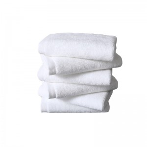 OEM manufacturer 100% Cotton Duvet Covers - Soft terry 16S plain white face towel for hotel – Meishi