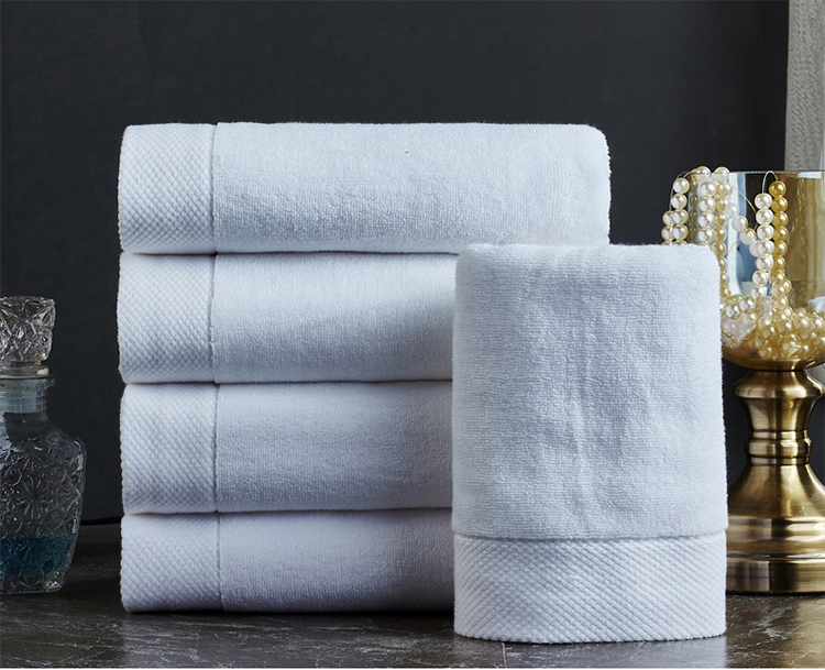 Super Purchasing for Microfiber Duvet Inner - Solid white cotton face towel with dobby  – Meishi